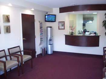 Bethesda MD dentist office, Family and Cosmetic Dentistry's Reception Area
